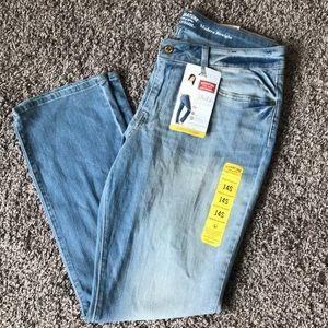 Faded Modern Straight Jeans Stretch Denim New!